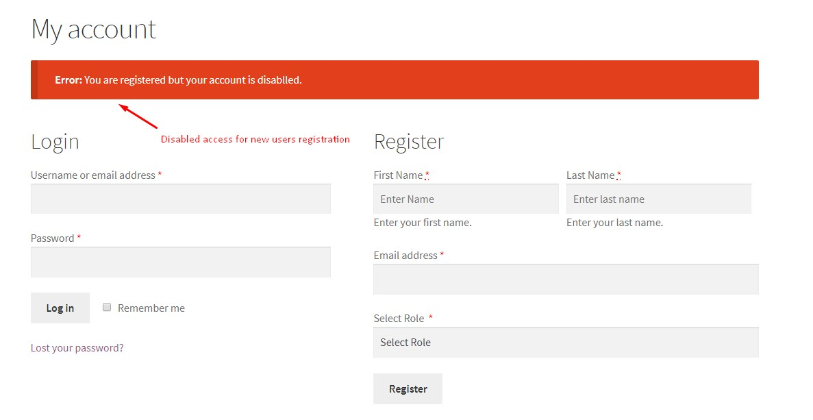 Woocommerce user registration plugin - 1